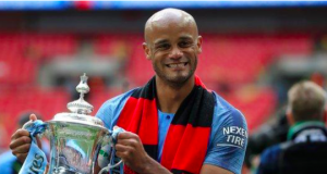 Kompany captained Manchester City to the Premier League title, FA Cup and Carabao Cup this season