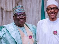 Sen. Ahmed Lawan and President Buhari
