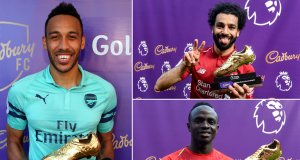 The Golden Boot winners: Aubameyang, Sadio Mane and Mohammed Salag