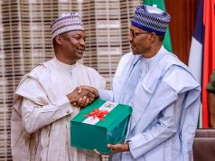 Abubakar Malami, ex-Minister of Justice with President Buhari