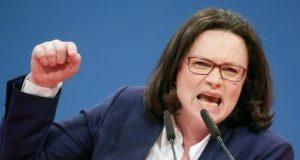 Andrea Nahles, Germany's SDP leader