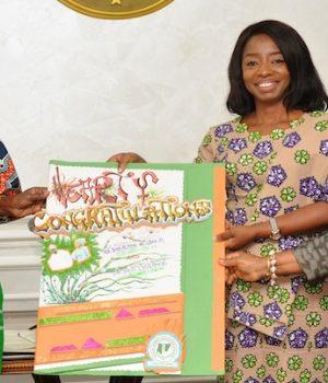 Dr. Ibijoke Sanwo-Olu with officials of Medical Women Association
