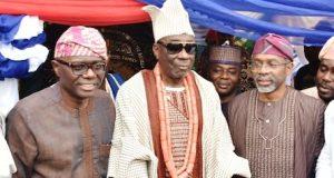 Gov. Sanwo-Olu, Oba Akiolu and Speaker, House of Reps, Femi Gbajabiamila