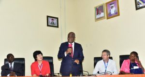 Speakers at the 1st African World Academy of Science conference in Akure, Oando