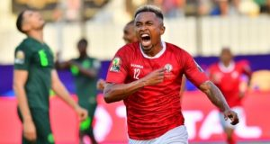 Madagascar player savours the victory against Super Eagles