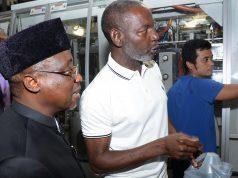 NNPC GMD Maikanti Baru and MRS Oil CEO, Sayyu Dantata