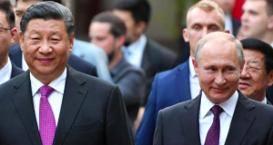 Chinese President Xi Jinping and Russia's Vladimir Putin