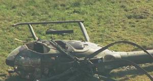 Crash-landed NAF helicopter