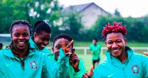 Some members of the Super Falcons team