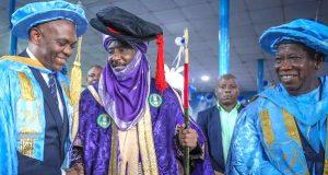 Tony Elumelu, Emir of Kano, Muhammadu Sanusi and Gov. Abdullah Ganduge of Kano