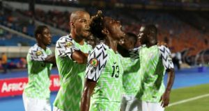 Excited Super Eagles players
