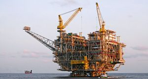 An oil rig off the-coast-of-Angola