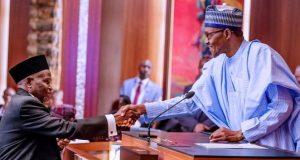 Buhari swears in Ibrahim Tanko Muhammad-as-CJN