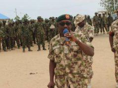 Bulama Biu, the General Officer Commanding 7 Div, Nigerian Army