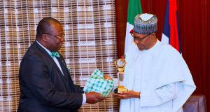 Dr Francis Adedayo Faduyile and President Buhari