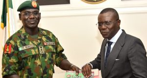 Gen. Buratai and Gov. Sanwo-Olu