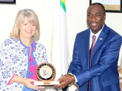 inister of State for Department for International Development, Harriett Baldwin with Dr. Obafemi Hamzat