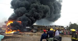 Fire outbreak at Ijegun Lagos