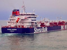 Undated handout photograph shpws the Stena Impero, a British-flagged vessel owned by Stena Bulk, at an undisclosed location