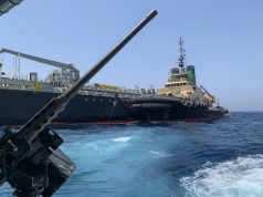 Japanese oil tanker was attacked in Gulf of Oman last month