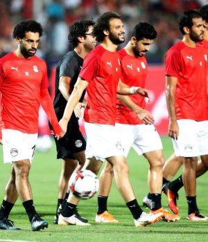 Mohammed Salah and team-mates