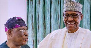 Olusegun Osoba with President Buhari
