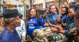 Osinbajo with N-Power-trainees
