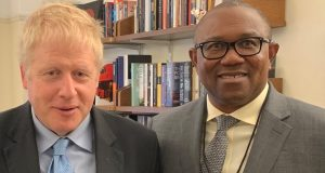 Peter Obi and Boris Johnson