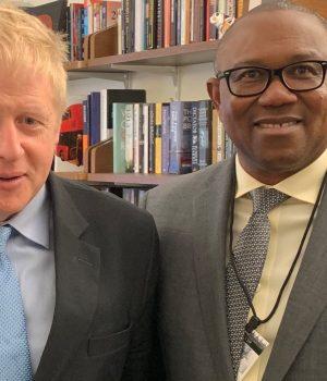 Peter Obi and Boris Johnson