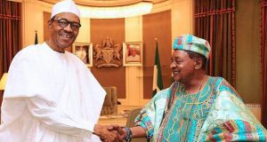 President Buhari and Alaafin of Oyo, Oba Lamidi Adeyemi