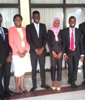 Eight students of the SPDC JV-sponsored Centre of Excellence in Geosciences and Petroleum Engineering, University of Benin.