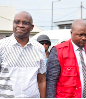 Fayose with EFCC officials