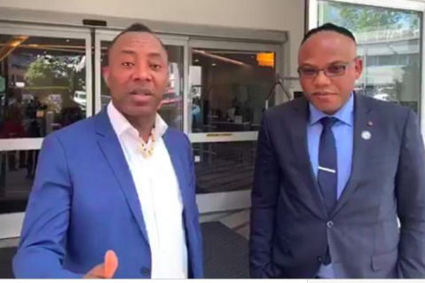 Image result for images of Sowore and Nnamdi Kanu