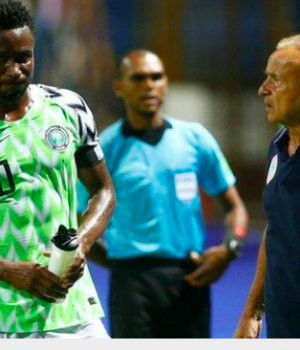 Mikel Obi and Rohr