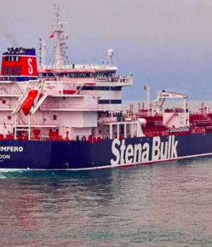 Undated handout photograph shows the Stena Impero, a British-flagged vessel owned by Stena Bulk, at an undisclosed location, obtained by Reuters on July 19, 2019