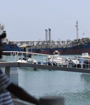 Ships in the port of Fujairah in the UAE, where recent tensions spiraling between Iran and the United States have affected movement in the Gulf of Oman