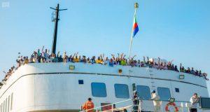Sudanese pilgrims arriving for hajj