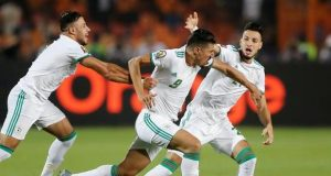 The victorious Algerians