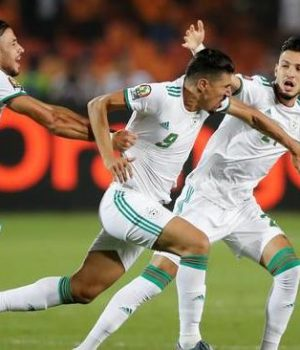 The victorious Algerians