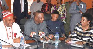Sen. Godswill Akpabio, Minister of Niger Delta and Festus Keyamo