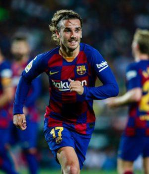 Antoine Griezmann held sway in Messi-less Barca