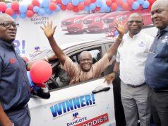 Olukayode Akin-Bamidele, star prize winner in Dangote Cement Star Prize Goodies