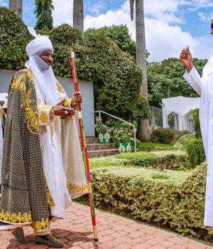 Emir of Kano, Sanusi Muhammadu with President Buhari