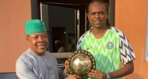 Gov. Ihedioha and Kanu Nwankwo