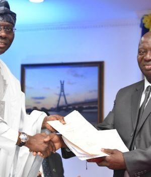 Gov. Sanwo-Olu and Justice Kazeem Olanrewaju Alogba