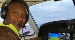 Hadi Sirika aboard the Caliberation Aircraft