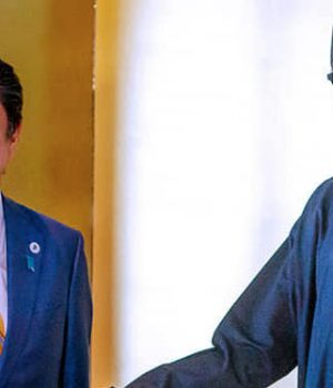 Japanese PM Shinzo Abe and President Muhammadu Buhari