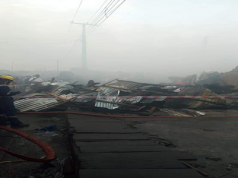 Katangowa Market on fire