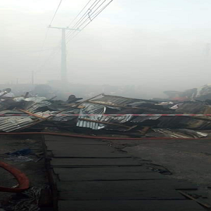 Katangowa Market on fire