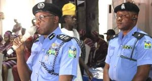 Assistant Inspector General of Police in charge of Zone 11, Leye Oyebade, representing IGP Muhammad Adamu